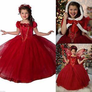 Déguisement enfant Princesse robe rouge – 10 11 ans 77509b7824f1