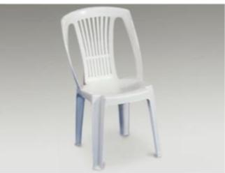Chaise Plastique Blanche Sans Accoudoirs